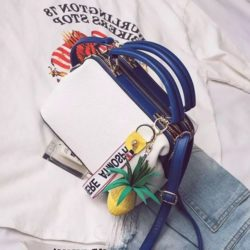 JT998746-white Doctor Bag Fashion Cantik Gantungan Lucu