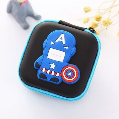 JTF0011-captain Dompet Earphone Cantik Import