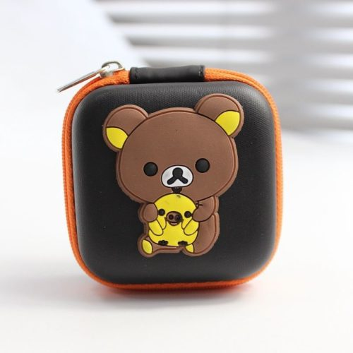 JTF0011-minibrown Dompet Earphone Cantik Import
