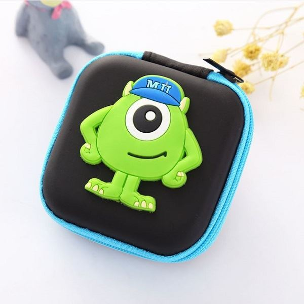 JTF0011 IDR.9.000 DOMPET EARPHONE, KOIN SIZE 7.2X3.2CM WEIGHT 25GR COLOR MINION