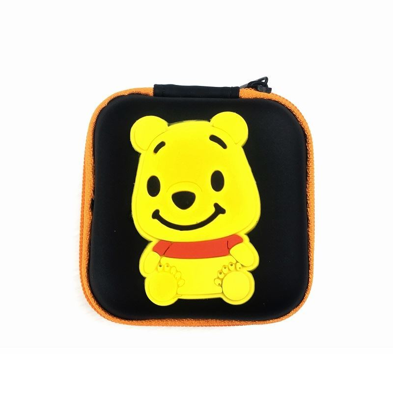 JTF0011 IDR.9.000 DOMPET EARPHONE, KOIN SIZE 7.2X3.2CM WEIGHT 25GR COLOR POOH