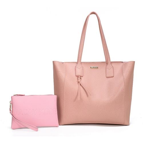JTF002 (2IN1) IDR.99.000 MATERIAL PU SIZE L32XH32XW13CM MEDIUM L22XH15XW1CM WEIGHT 650GR COLOR PINK