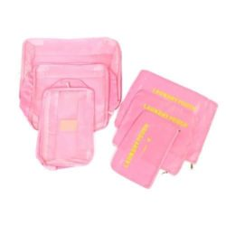 JTF006-lightpink Tas Set Laundry Pouch 6in1 Import