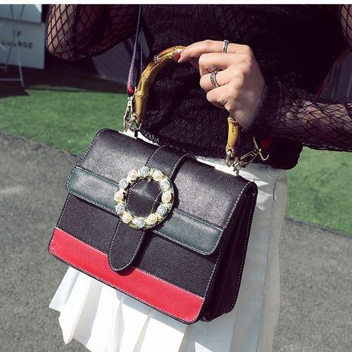 JTF0118-black Tas Selempang Wanita Elegan Import