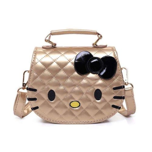 JTF012-gold Tas Selempang Hello Kitty Cantik Import