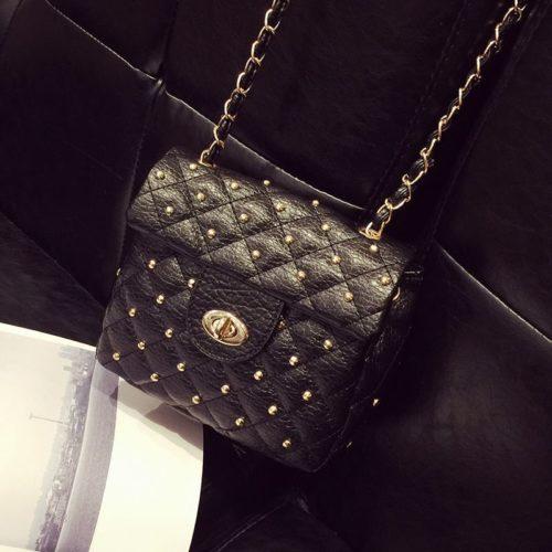 JTF0121-black Tas Selempang Wanita Cantik Fashion Import