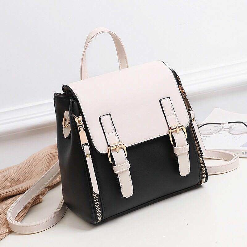 JTF0151 IDR.89.000 MATERIAL PU SIZE L21XH23XW12.5CM WEIGHT 800GR COLOR BLACKWHITE