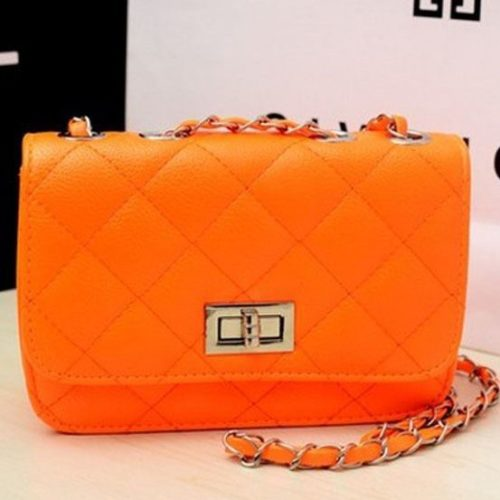 JTF0199-orange Tas Selempang Clutch Wanita Cantik Import
