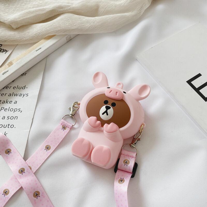 JTF04129 IDR.24.000 MATERIAL PVC SIZE L11XH8XW4CM WEIGHT 150GR COLOR BROWNPINK