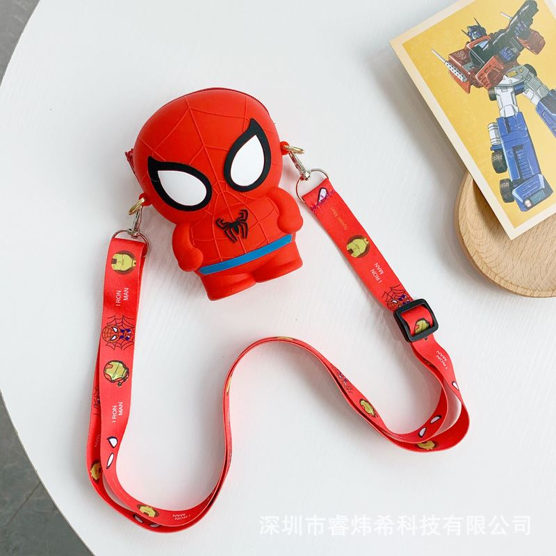 JTF04129 IDR.35.000 MATERIAL PVC SIZE L11XH8XW4CM WEIGHT 150GR COLOR SPIDERMAN