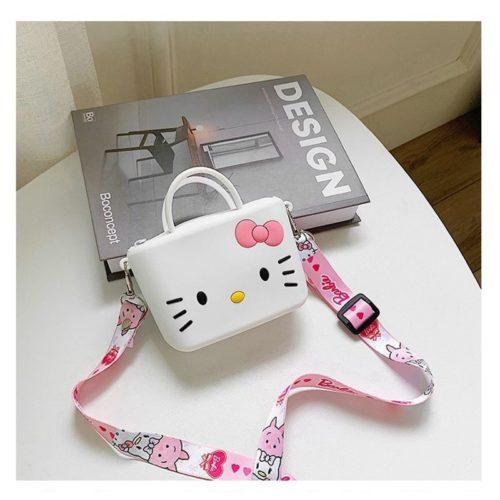 JTF04129-kittywhite Tas Selempang Imut Lucu Import Terbaru