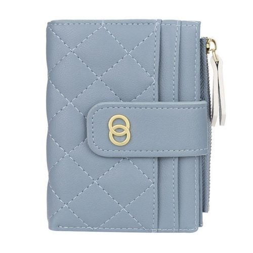 JTF063-blue Dompet Lipat Wanita Cantik Import Terbaru
