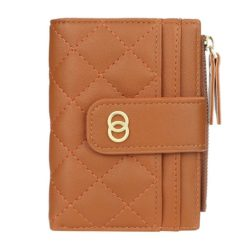 JTF063-brown Dompet Lipat Wanita Cantik Import Terbaru