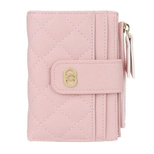 JTF063-lightpink Dompet Lipat Wanita Cantik Import Terbaru