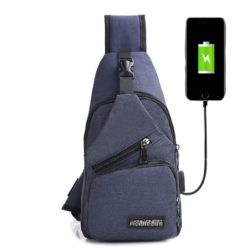 JTF0817-blue Waist Bag Crossbody Pria Keren Terbaru