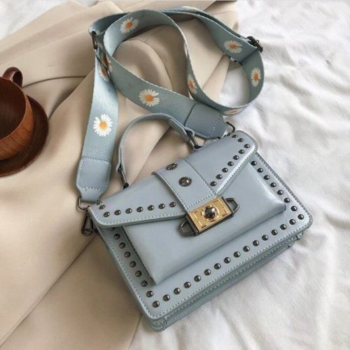 JTF09052-blue Tas Handbag Wanita Cantik Tali Selempang