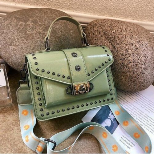JTF09052-green Tas Handbag Wanita Cantik Tali Selempang