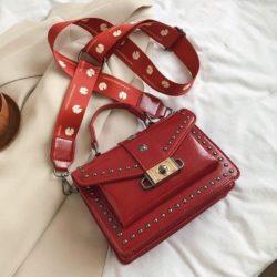 JTF09052-red Tas Handbag Wanita Cantik Tali Selempang