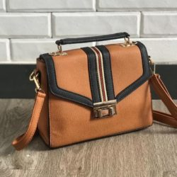 JTF0961-brown Tas Handbag Fashion Wanita Cantik Import