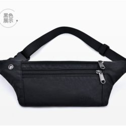 JTF0985-black Waist Bag Unisex Fashion Modis Terbaru