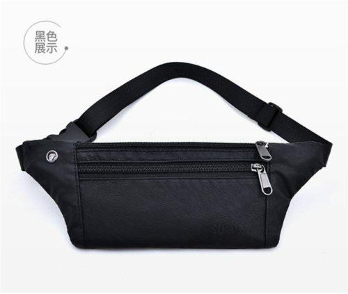 JTF0985-black Waist Bag Unisex Fashion Modis Terbaru