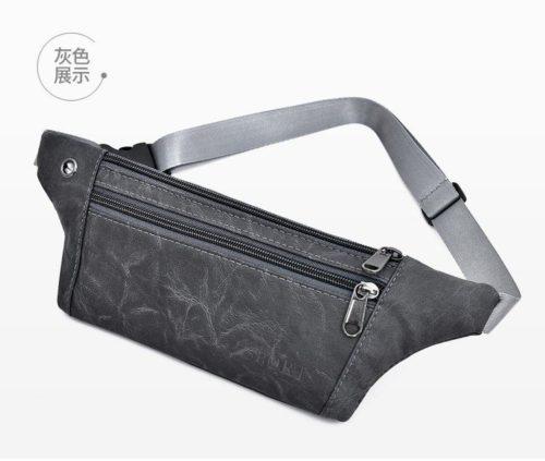 JTF0985-gray Waist Bag Unisex Fashion Modis Terbaru