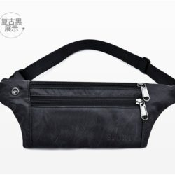 JTF0985-vintageblack Waist Bag Unisex Fashion Modis Terbaru