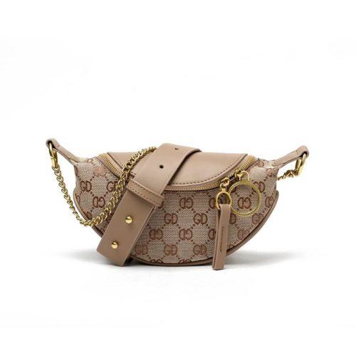 JTF1045-khaki Waist Bag Wanita Elegan Import Terbaru