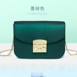 JTF1070-green Tas Selempang Jelly Import Terbaru