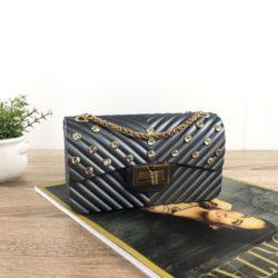 JTF10841-gray Tas Jelly Matte Kristal Elegan Import