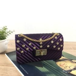 JTF10841-purple Tas Jelly Matte Kristal Elegan Import