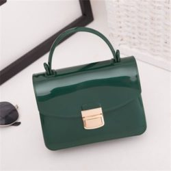 JTF1088-green Tas Pesta Jelly Glossy Import Cantik
