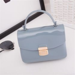 JTF1088-lightblue Tas Pesta Jelly Glossy Import Cantik