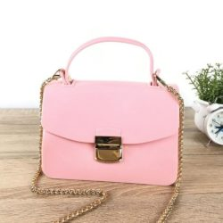 JTF1088-lightpink Tas Pesta Jelly Glossy Import Cantik