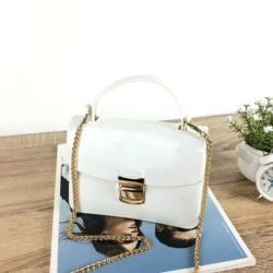 JTF1088-white Tas Pesta Jelly Glossy Import Cantik