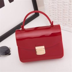 JTF1088-wine Tas Pesta Jelly Glossy Import Cantik