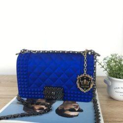 JTF1092SMALL-blue Tas Jelly Clutch Wanita Cantik Elegan Import