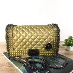 JTF1092SMALL-gold Tas Jelly Clutch Wanita Cantik Elegan Import