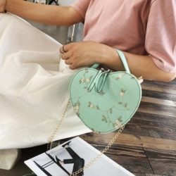 JTF1094-green Tas Selempang LOVE Stylish Import Terbaru