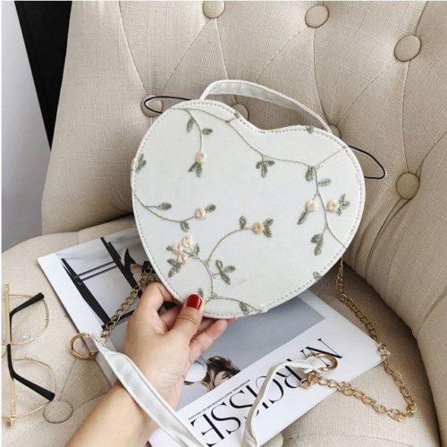 JTF1094-white Tas Selempang LOVE Stylish Import Terbaru