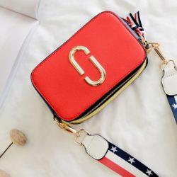 JTF1128-red Tas Snapshot Import Wanita Cantik