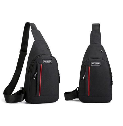 JTF12001A-black Sling Bag Canvas Modis Pria Keren Import Terbaru