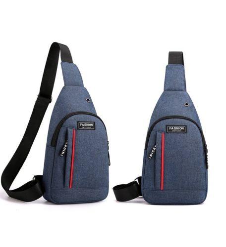 JTF12001A-blue Sling Bag Canvas Modis Pria Keren Import Terbaru