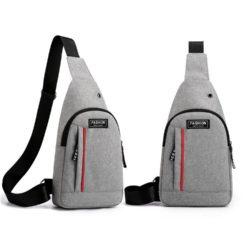JTF12001A-gray Sling Bag Canvas Modis Pria Keren Import Terbaru