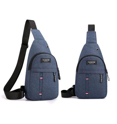 JTF12001B-blue Sling Bag Canvas Modis Pria Keren Import Terbaru