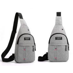 JTF12001B-gray Sling Bag Canvas Modis Pria Keren Import Terbaru