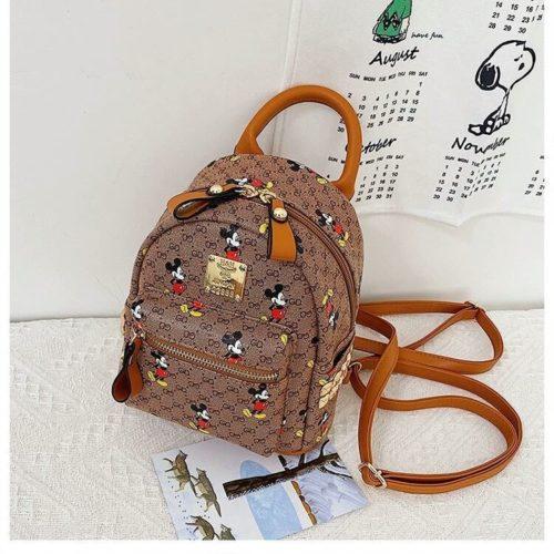 JTF12003-brown Tas Ransel Mickey Modis Wanita Terbaru Import