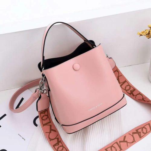 JTF12200-pink Tas Handbag Selempang Fashion Import 2 Talpan