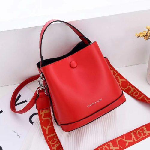 JTF12200-red Tas Handbag Selempang Fashion Import 2 Talpan