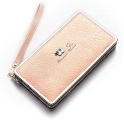 JTF1228-pink Dompet Panjang Wanita Modis Import